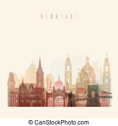 Budapest skyline clip art and stock illustrations 93 budapest budapest skyline detailed silhouette transparent style altavistaventures Image collections