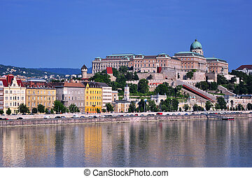 Budapest skyline, summer view of downtown of hungarian capital