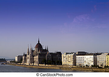 Budapest skyline, the Parliament.