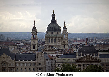 Budapest skyline with St. Stephen's Basilica, Hungary