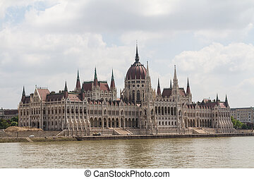 Budapest, the building of the Parliament (Hungary)