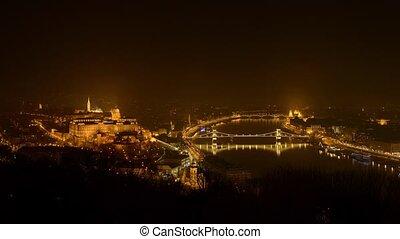 Budapest timelapse footage