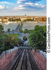 View from Buda Castle funicular, Budapest