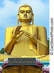 Budda Golden Temple in Dambulla Sri lanka