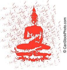 Buddha. - A sitting Buddha statue.