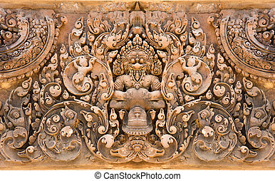 Buddha and Devil - Seamless tile of Devil and Buddha stone...