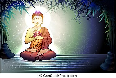 Buddha and Reflection in the Water
