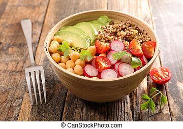 buddha bowl, vegan salad bowl