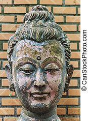 buddha, cabeza, wat, chiangmai, umong