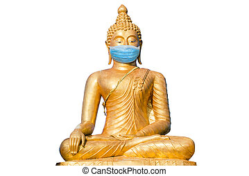 buddha, chirurgische maske