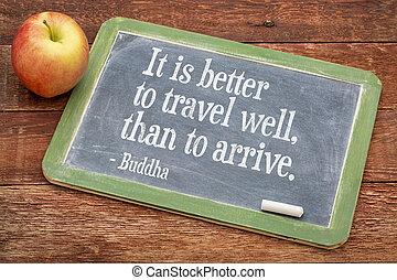buddha, citação, ligado, viagem, e, vida