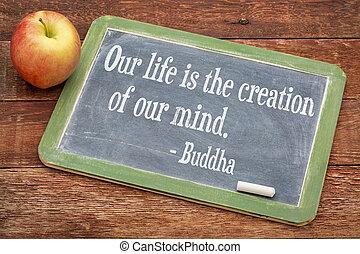 buddha, citação, ligado, vida
