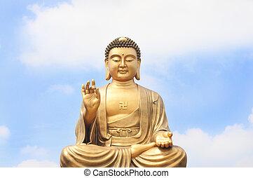 buddha, clase, cielo