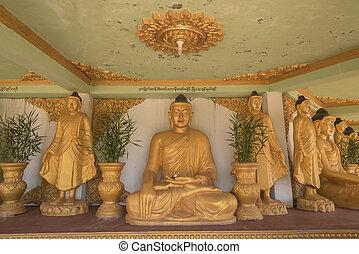 buddha, em, a, predios