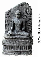 buddha, en, bhumisparsha, mudra