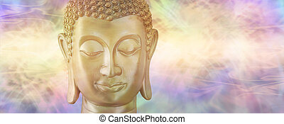 buddha, en, profundo, contemplación