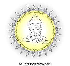 buddha image vector