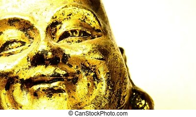 Buddha figure, head with camera drive
