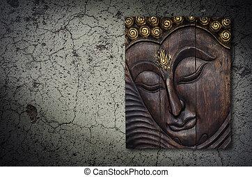Buddha image on the wall