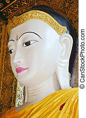 Buddha image statue Burma Style of Shwedagon Pagoda or Great...