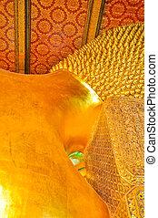 buddha, imagen, descanso