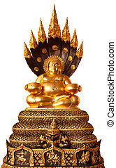 Buddha in meditation isolated