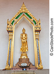 Buddha in meditation of temple