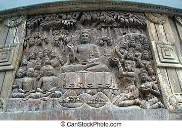 Buddha in Sermon