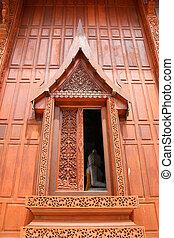 Buddha in the thai window