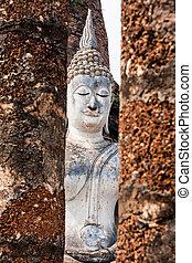 Buddha in Wat Sa Si, Sukhothai, Thailand