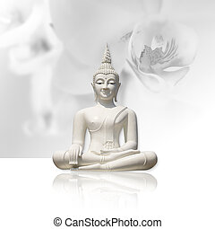 Buddha, isolated (clipping path)