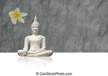 Buddha, isolated (clipping path) - Isolated white buddha...