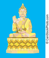 Buddha low poly style