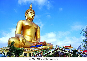 Wat Muang - Buddha Nawamin Sakayamuni Statue Sri Wiset Chai...