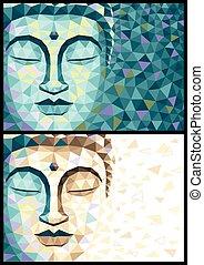 buddha, niedrig, poly