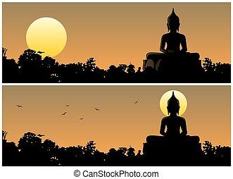 buddha, ocaso
