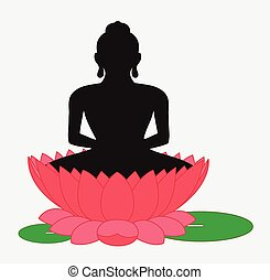 Buddha on Lotus Flower