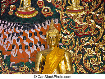 Buddha on the wall.