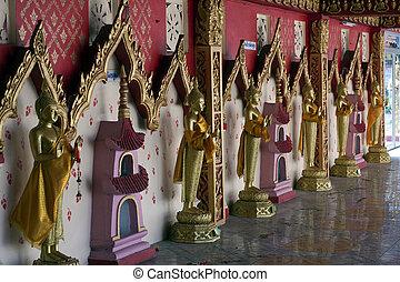 buddha, phrang, estatuas, cantó, wat