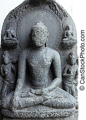 Buddha, from 10th century found in Bihar now exposed in the...