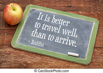 Buddha quote on travel and life