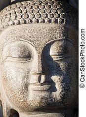 buddha sculpture close up shot