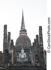 Buddha sculpture in Wat Sa Si