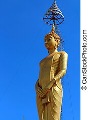 buddha state and blue sky background