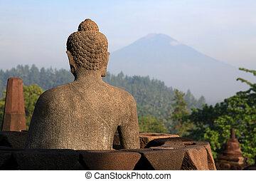 Buddha Statue at Borobudur Temple