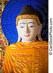 Buddha statue at Shwedagon Pagoda, Yangon, Myanmar