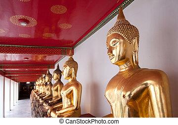 Buddha statue at Temple in Bangkok