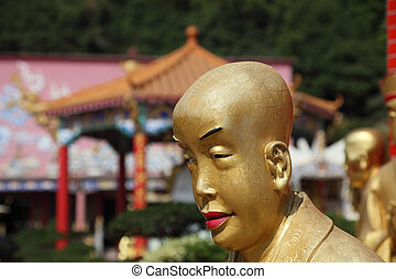 Buddha Statue by the Temple of 10000 Buddhas in Hong Kong