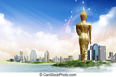 Buddha statue concept