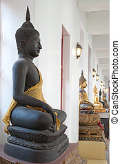 Buddha statue in temple at Bangkok, Thailand.
